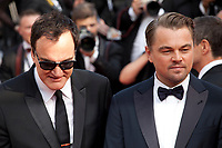 Quentin Tarantino and Leonardo DiCaprio at the Once Upon A Time... In Holywood gala screening at the 72nd Cannes Film Festival Tuesday 21st May 2019, Cannes, France. Photo credit: Doreen Kennedy