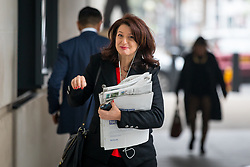 © Licensed to London News Pictures. 15/04/2018. London, UK. Journalist Rachel Shabi arriving at BBC Broadcasting House to appear on The Andrew Marr Show this morning. Photo credit : Tom Nicholson/LNP