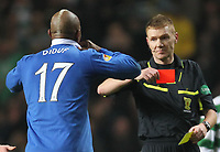 Football - Scottish FA Cup - Celtic v Rangers<br /> <br /> <br /> Rangers El Hadji Diouf is red carded by referee Calum Murray at the end of the Celtic v Rangers Scottish Cup 5th Round replay at Celtic Park
