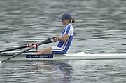 Hazewinkel. BELGUIM  GBR LW1X Helen CASEY. 2004 GBR Rowing Trials - Rowing Course, Bloso, Hazewinkel. BELGUIM. [Mandatory Credit Peter Spurrier/ Intersport Images]