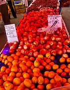 Produce market, Nectarines, Berkeley, CA