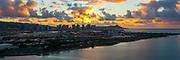Aerial, Sunrise, Diamond Head, Waikiki, Honolulu, Oahu, Hawaii