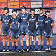 Team Virtu Cycling (Den) photocall at Prudential RideLondon Classique at the Mall on 28 July 2018, London, UK