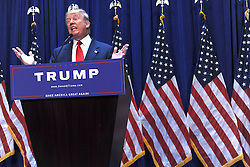 June 16, 2015 - New York, New York, USA - Business mogul Donald Trump gives a speech as he announces his candidacy for the U.S. presidency at Trump Tower on June 16, 2015 in New York City. Trump is the 12th Republican who has announced running for the White House (Credit Image: © Future-Image/ZUMA Wire)