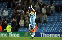 Photo: Paul Thomas.<br /> Manchester City v Chelsea. The Barclays Premiership. 14/03/2007.<br /> <br /> Dejested Joey Barton of City thanks the crowd.