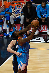 March 10, 2018 - Los Angeles, CA, U.S. - LOS ANGELES, CA - MARCH 10: LA Clippers center DeAndre Jordan (6) shoots from under the basket during the game between the Orlando Magic and the LA Clippers on March 10, 2018, at STAPLES Center in Los Angeles, CA. (Photo by David Dennis/Icon Sportswire) (Credit Image: © David Dennis/Icon SMI via ZUMA Press)