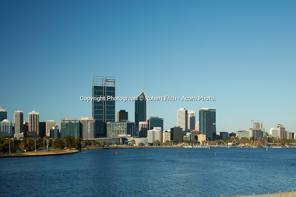 Perth city skyline from South Perth