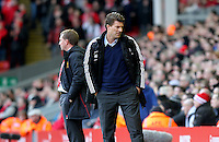 Barclays Premier League, Liverpool V Swansea, Anfield, 17/02/13 .Pictured: The two managers Brendan Rodgers and Michael Laudrup.