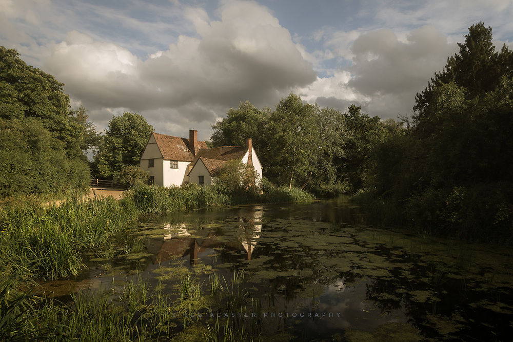 Willie Lott's cottage at Flatford earlier today
