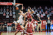 Southern California Trojans guard Drew Peterson (13) dunks during an NCAA men's basketball game against the Stanford Cardinal, Wednesday, March 3, 2021, in Los Angeles. USC defeated Stanford 79-42. (Jon Endow/Image of Sport)