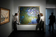 Nympheas en Fleur, by Claude Monet, Est on request - Christie's unveil an exhibition of touring highlights from the Collection of Peggy and David Rockefeller, ahead of the New York sales (w/c 7 May).  they will be on public view in London from 21 February to 8 March.