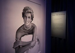 © Licensed to London News Pictures. 01/11/2016. London, UK. A photograph of Diana, Princess of Wales is displayed at the 'Hair by Sam McKnight' exhibition at Somerset House. Sam was Princess Diana's personal hair stylist from 1990-1997. The show, which runs from 2nd November, 2016 to 12th March, 2017, celebrates the career of fashion's favourite hair stylist. Photo credit: Peter Macdiarmid/LNP