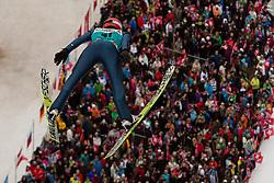 22.12.2013, Gross Titlis Schanze, Engelberg, SUI, FIS Weltcup Ski Sprung, Engelberg, Herren, im Bild Karl Geiger (GER) // during mens FIS Ski Jumping world cup at the Gross Titlis Schanze in Engelberg, Switzerland on 2013/12/22. EXPA Pictures © 2013, PhotoCredit: EXPA/ Eibner-Pressefoto/ Socher<br /> <br /> *****ATTENTION - OUT of GER*****