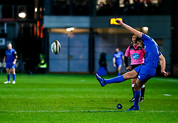 Ross Byrne of Leinster converts<br /> <br /> Photographer Simon King/Replay Images<br /> <br /> Guinness PRO14 Round 10 - Dragons v Leinster - Saturday 1st December 2018 - Rodney Parade - Newport<br /> <br /> World Copyright © Replay Images . All rights reserved. info@replayimages.co.uk - http://replayimages.co.uk