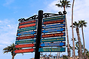 Street Sign in Downtown Avalon Catalina Island