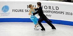 23.03.2010, Torino Palavela, Turin, ITA, ISU World Figure Skating Championships Turin 2010 im Bild Carolina Hermann and Daniel Hermann (GER), EXPA Pictures © 2010, PhotoCredit: EXPA/ InsideFoto/ Perottino / SPORTIDA PHOTO AGENCY