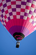A pink-and-purple checkered balloon, Crown of Maine Balloon Fair, Presque Isle, Maine.