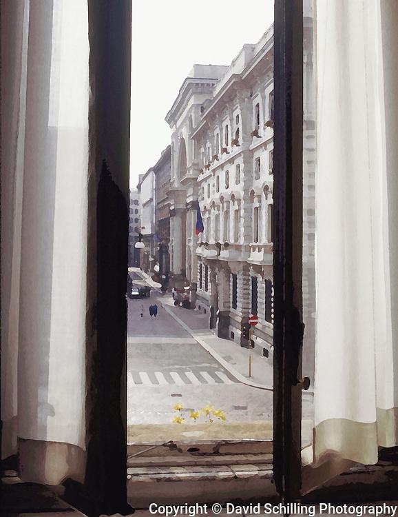 La Scala window view