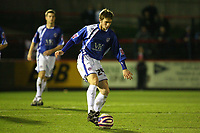 Chesterfield's Jared Wilson (On loan from Birmingham)<br /> Aldershot vs Chesterfield at The Recreation Ground Aldershot<br /> Coca-Cola Football League Two  31/03/2009.<br /> Credit Colorsport / Shaun Boggust