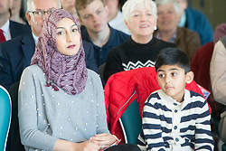 His wife Furheen, and one of his sons, Seffi. Anas Sarwar delivered a major speech and present his vision for Scotland's future, at DoubleTree by Hilton Hotel, Edinburgh.