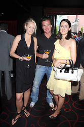 Left to right, KALITA AL-SWAIDI, STEVE HALL and ALICE BEAUMONT at the Beat Summer party hosted by Luce del Bono at L'Atelier De Joel Robuchon, 13-15 West Street, Covent Garden, London on 1st July 2008.<br />