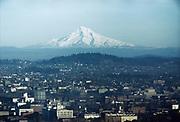 CS00014-12  Bird's-eye view of Mt. Tabor, Mt. Hood and Portland, 1950s