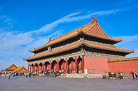 Chine, Pékin (Beijing), Cité Interdite, classée Patrimoine Mondial de l'UNESCO, Pavillon de la Pureté Célestre // China, Beijing, Forbidden City, Heavenly Purity hall