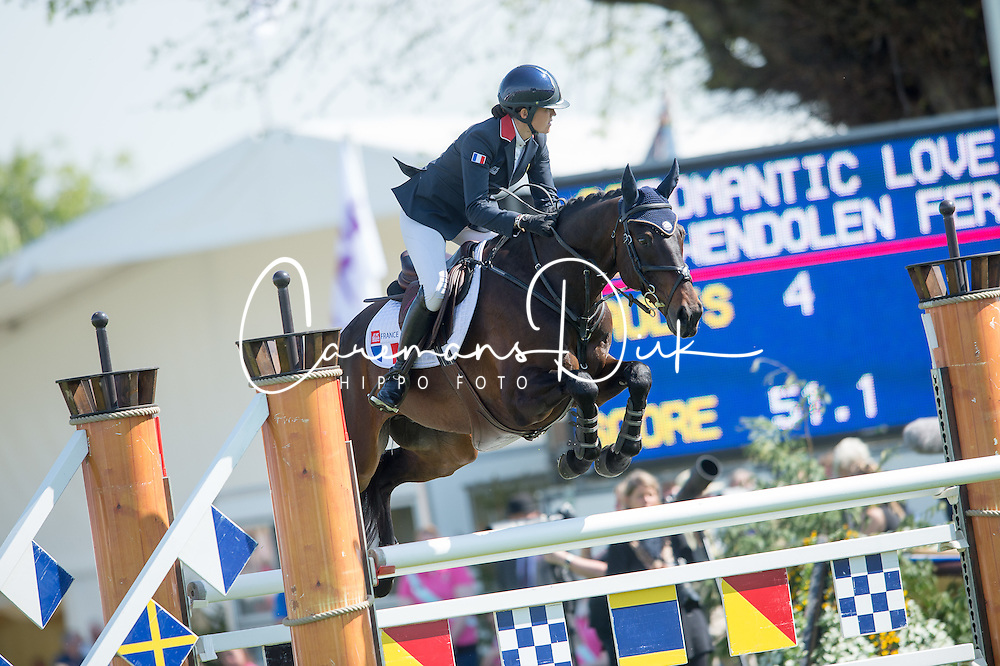 Fer Gwendolen, (FRA), Romantic Love<br /> CCI4* - Mitsubishi Motors Badminton Horse Trials 2016<br /> © Hippo Foto - Jon Stroud