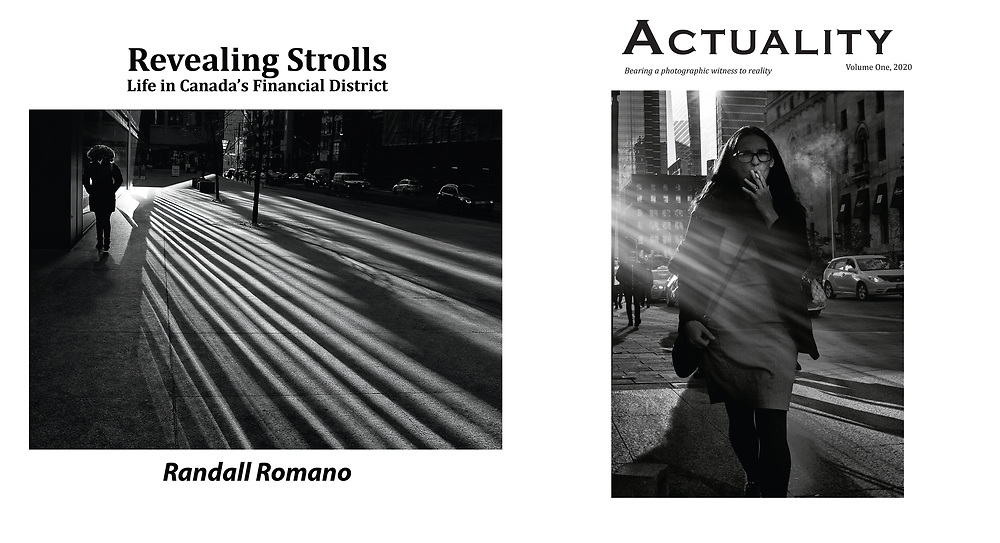 Two art magazines produced by Randall Romano which highlights black and white photographs. Limited Edition zines produced as art