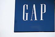 Sign for clothes shop GAP.