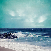 Waves crashing on beach - textured photograph<br /> Redbubble prints & more here--> https://rdbl.co/2T5h8bj