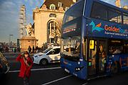 Tour bus in London, England, United Kingdom.