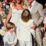 SPA/La Bisbal/20110711 - Huwelijk Jeroen van der Boom en Dani de Wit, met zonen Daan en Luuk