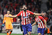 Goal Diego Costa (Atlético Madrid) during the UEFA Europa League, semi final, 2nd leg football match between Atletico de Madrid and Arsenal FC on May 3, 2018 at Metropolitano stadium in Madrid, Spain - Photo Laurent Lairys / ProSportsImages / DPPI