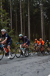 Marlen Reusser (SUI) in the lead group at the 2020 Liège Bastogne Liège, a 135 km road race from Bastogne to Liège, Belgium on October 4, 2020. Photo by Sean Robinson/velofocus.com