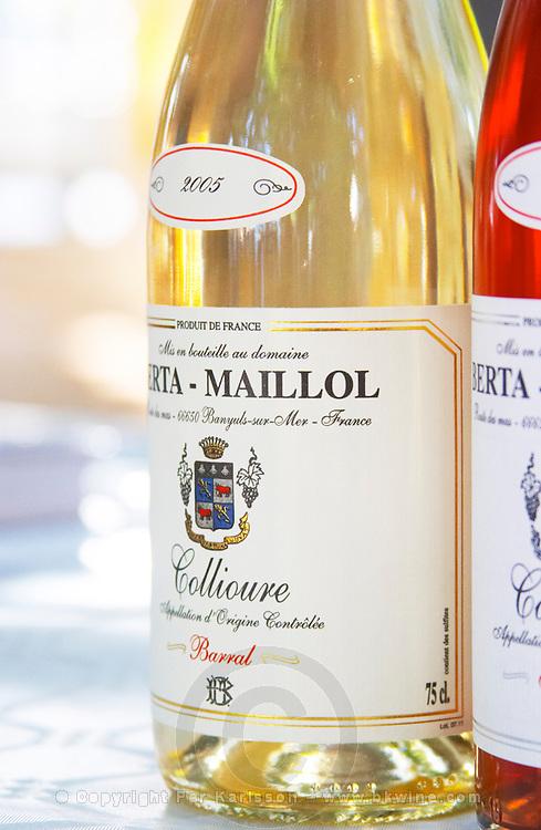 Cuvee Barral. Domaine Berta-Maillol. Roussillon. France. Europe. Bottle.