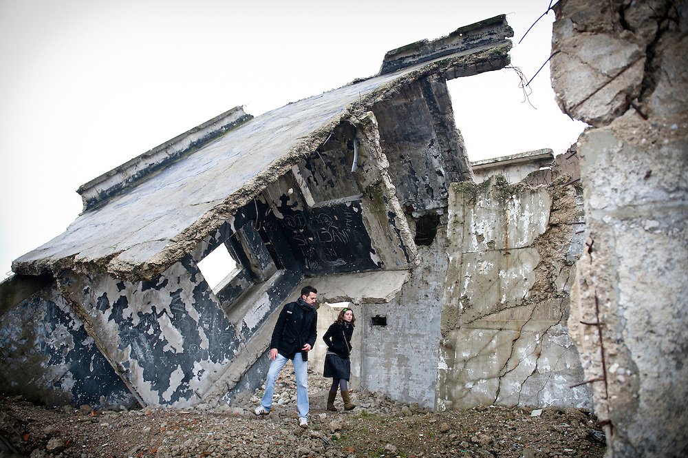 """Komoran Village, Kosovo 19 February 2011<br /> Ruins of a house damaged during the Kosovo war 98-99.<br /> After the Kosovo War and the 1999 NATO bombing of Yugoslavia, the territory of Kosovo came under the interim administration of the United Nations Mission in Kosovo (UNMIK), and most of those roles were assumed by the European Union Rule of Law Mission in Kosovo (EULEX) in December 2008.<br /> In February 2008 individual members of the Assembly of Kosovo declared Kosovo's independence as the Republic of Kosovo. Its independence is recognised by 75 UN member states. On 8 October 2008, upon request of Serbia, the UN General Assembly adopted a resolution asking the International Court of Justice for an advisory opinion on the issue of Kosovo's declaration of independence. <br /> On 22 July 2010, the ICJ ruled that Kosovo's declaration of independence did not violate international law, which its president said contains no """"prohibitions on declarations of independence"""".<br /> Photo: Ezequiel Scagnetti"""