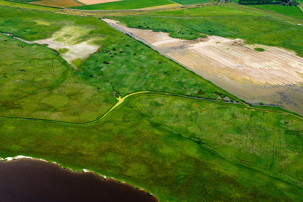 Nederland, Friesland, Gemeente Dongeradeel, 05-08-2014; Ezumakeeg, natuurgebied, onderdeel Nationaal Park Lauwersmeer.<br /> Nature reserve, part of National landscape.<br /> luchtfoto (toeslag op standard tarieven);<br /> aerial photo (additional fee required);<br /> copyright foto/photo Siebe Swart