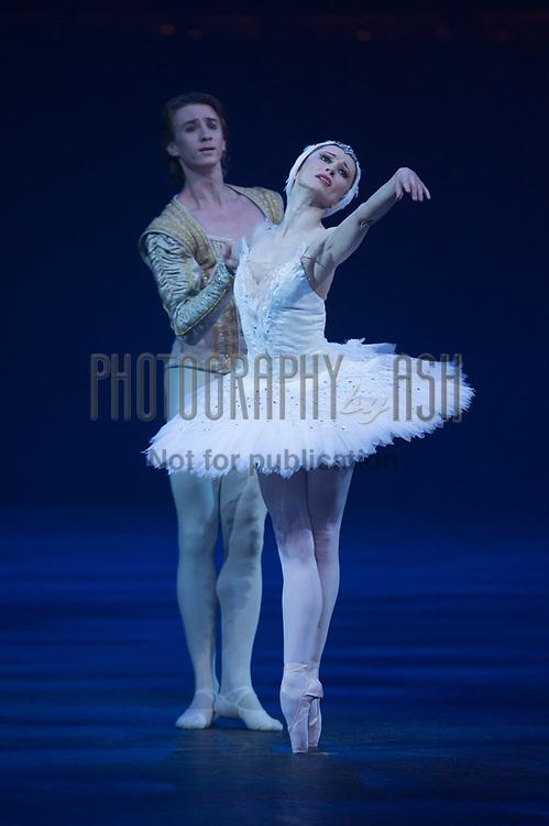 Daria Klimentová & Vadim Muntagirov performing in English National Ballet's Swan Lake dress rehearsal at the Royal Albert Hall, London on June 11 2013. Photo: Arnaud Stephenson