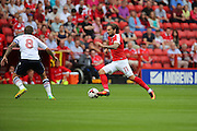 Charlton Athletic midfielder Ricky Holmes (11) on the attack during the EFL Sky Bet Championship match between Charlton Athletic and Bolton Wanderers at The Valley, London, England on 27 August 2016. Photo by Matthew Redman.