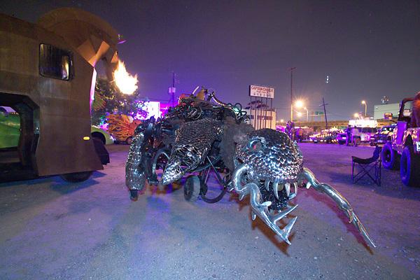 Stock photo of a metal creature car