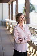 Sheri Sobrato Brisson of the Sobrato Organization/Sobrato Family Foundation poses for a portrait at the Sobrato Organization/Sobrato Family Foundation office in Mountain View, California, on March 13, 2019. (Stan Olszewski for Silicon Valley Business Journal)