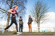 12/03/2017, Bohermeen AC 10k road Race & Half Marathon<br /> Clement Ward (Kilcock) & John Faulkner (Maynooth) pictured watching the runners in the Bohermeen AC Half Marathon<br /> Photo: David Mullen /www.cyberimages.net / 2017<br /> ISO: 200; Shutter: 1/40; Aperture: 13; <br /> File Size: 3.3MB<br /> Actuations: