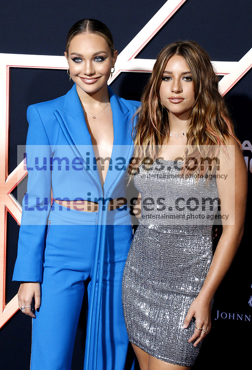Maddie Ziegler and Mackenzie Ziegler at the Los Angeles premiere of 'Charlie's Angels' held at the Regency Village Theater in Westwood, USA on November 11, 2019.