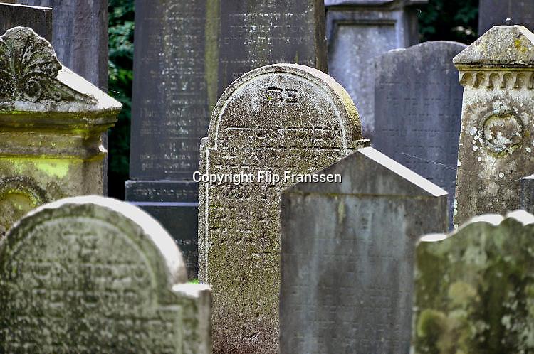 Duitsland, Kleef, Kleve, 2-8-2017De joodse begraafplaats. Jewish cemetary.Foto: Flip Franssen