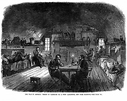 American Civil War 1861-65: Federal (northern) prison in Fort Lafayette, New York Harbour, used to hold Confederate (southern) prisoners from the beginning of the war. View in one of the casemates. From 'The Illustrated London News', March 1865. Wood engraving.