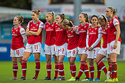 Arsenal Town FC Women during the Brighton and Hove Albion Women vs Arsenal Women, FA WSL Cup at The People's Pension Stadium, Crawley, England on 3 November 2019.