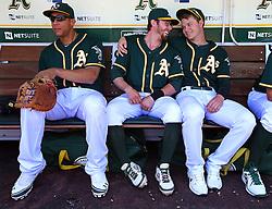 Kyle Blanks, Eric Sogard, and Sonny Gray, 2014