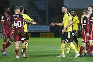 The players shake hands after the final whistle during the EFL Sky Bet League 1 match between Burton Albion and Bradford City at the Pirelli Stadium, Burton upon Trent, England on 26 January 2019.