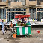 A street food cart in Ludhiana